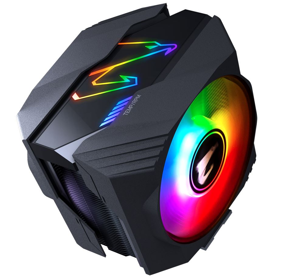 Gigabyte AORUS ATC800 Multi Socket CPU Air Cooler RGB Dual 120mm Fan for Intel 2066 2011 1366 1156 1155 1151 1150 AMD AM4 FM2+ FM2 AM3+ AM3 ~ATC