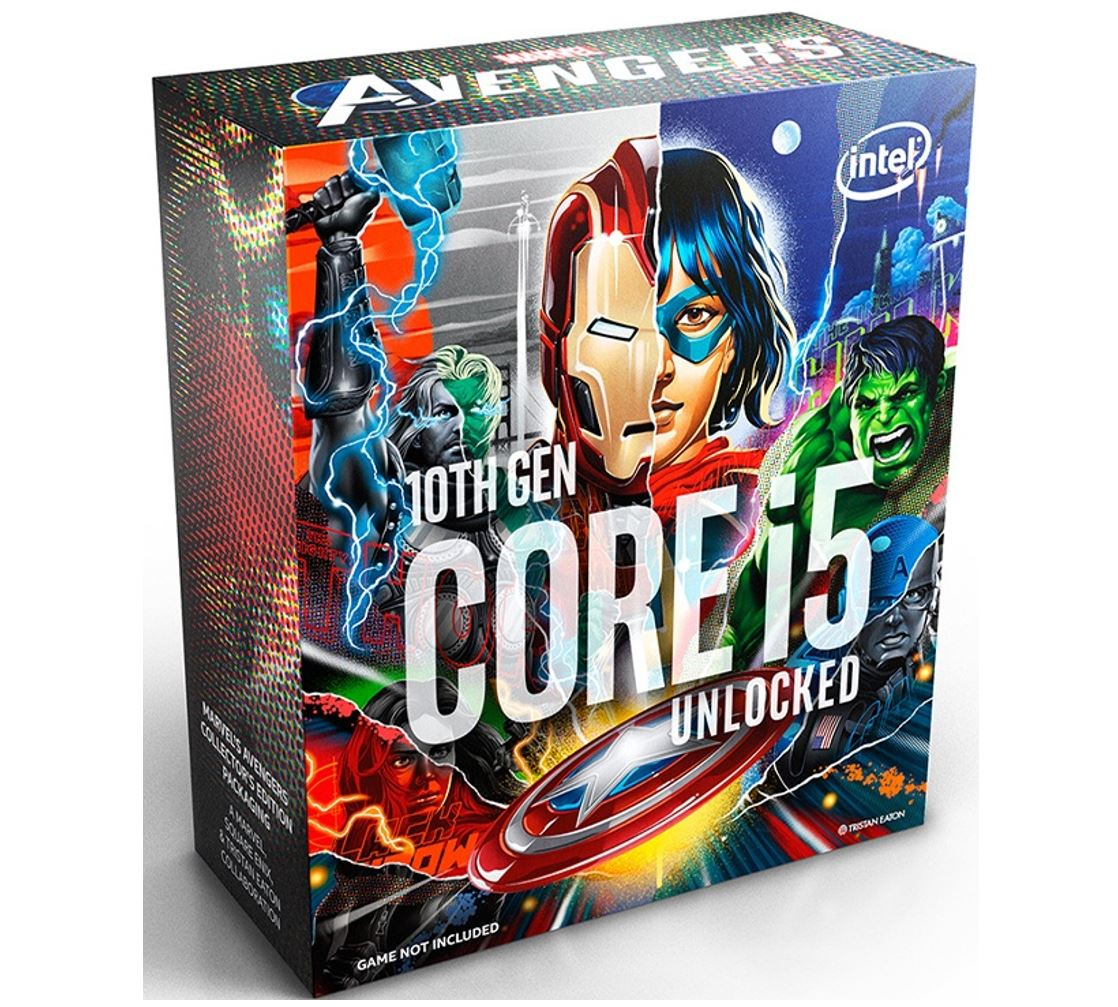 New Intel Core i5-10600K Avengers CPU 4.1GHz (4.8GHz Turbo) LGA1200 10th Gen 6-Cores 12-Threads 12MB 95W UHD Graphic 630 Retail Box 3yrs Comet Lake
