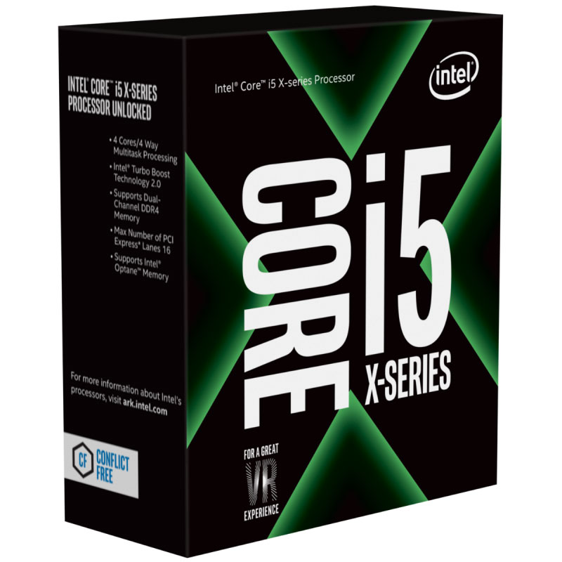 Intel Core X i5-7640X 4Ghz Kabylake-X Quad-Core s2066 6MB Cache 112W No Fan Unlocked X299 MB required Retail Boxed 3 Years Warranty