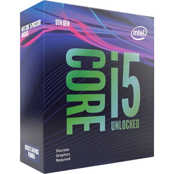 Intel Core i5-9600KF 3.7Ghz No Fan Unlocked  s1151 Coffee Lake 9th Generation Boxed 3 Yrs Qty Dedicated Graphic required