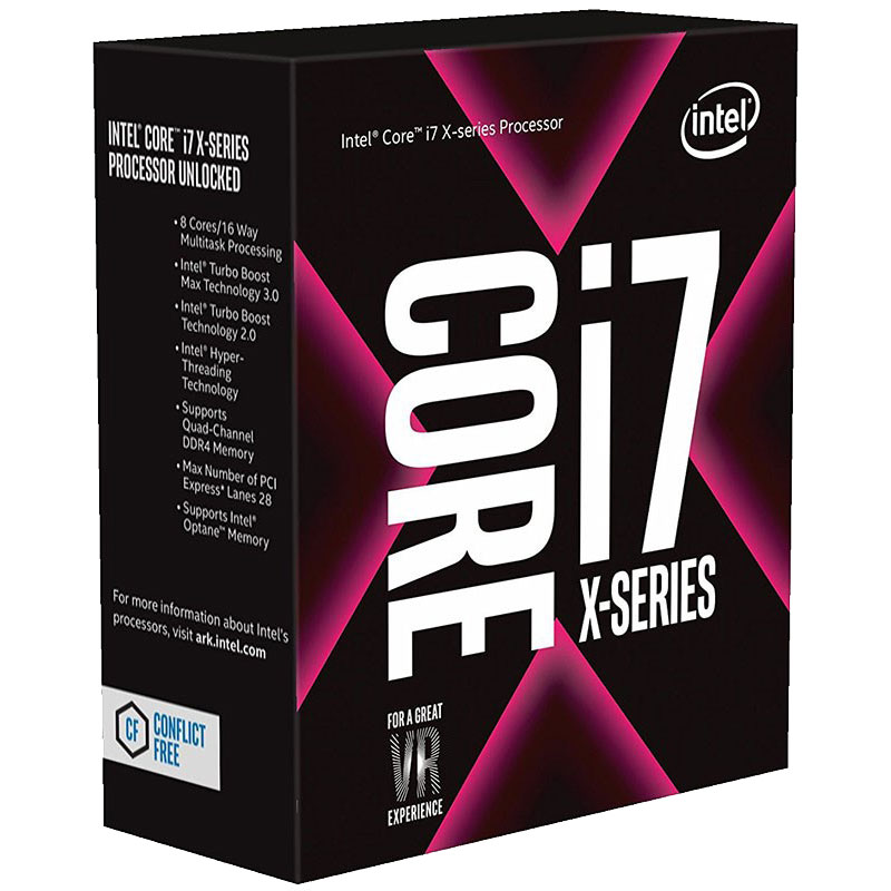 Intel Core X i7-7820X 3.6Ghz Skylake-X 8-Core s2066 11MB Cache 140W No Fan Unlocked X299 MB required Retail Boxed 3 Years Warranty