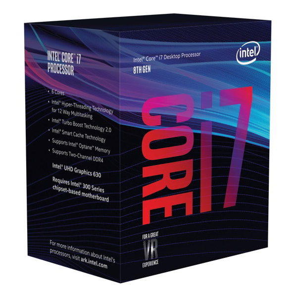 Intel Core i7-8700K 3.7Ghz No Fan Unlocked  s1151 Coffee Lake 8th Generation Boxed 3 Years Warranty