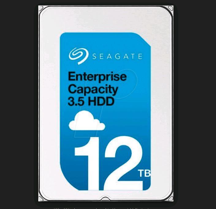 Seagate EXOS 12TB SATA Enterprise Capacity 512E Internal 3.5' HDD,12TB, 6Gb/s, 7200RPM, 5YR WTY