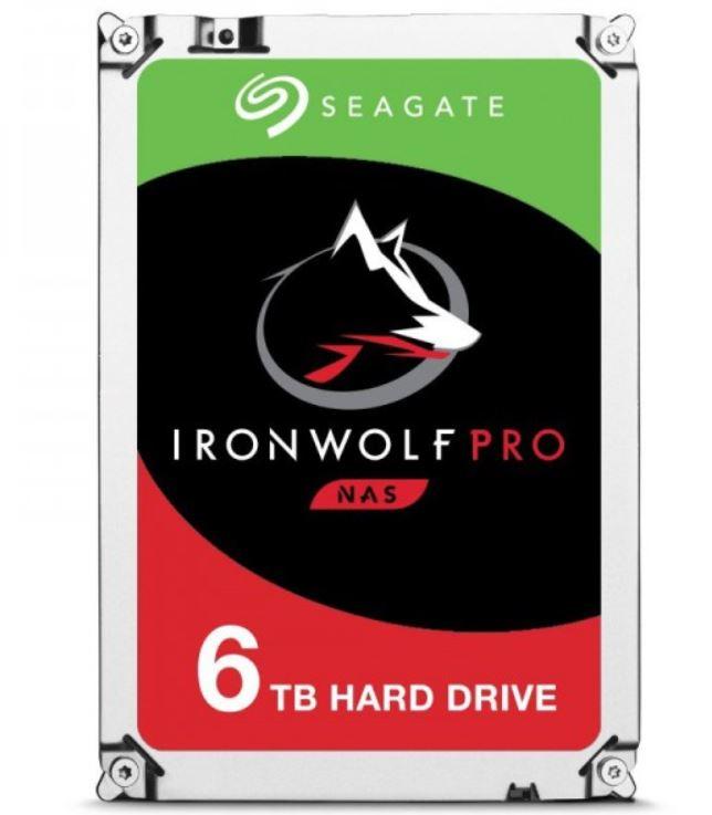 Seagate 6TB 3.5' IronWolf Pro NAS ST6000NE000 7200 RPM 256MB Cache SATA 6.0Gb/s 5 Yrs Warranty