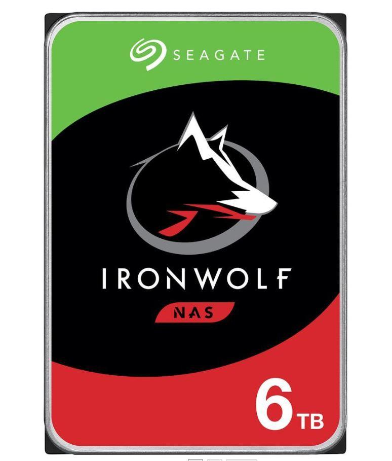 Seagate 6TB 3.5' IronWolf NAS 3.5' Hard Drive, SATA III, 5400RPM, 256MB Cache, NAS