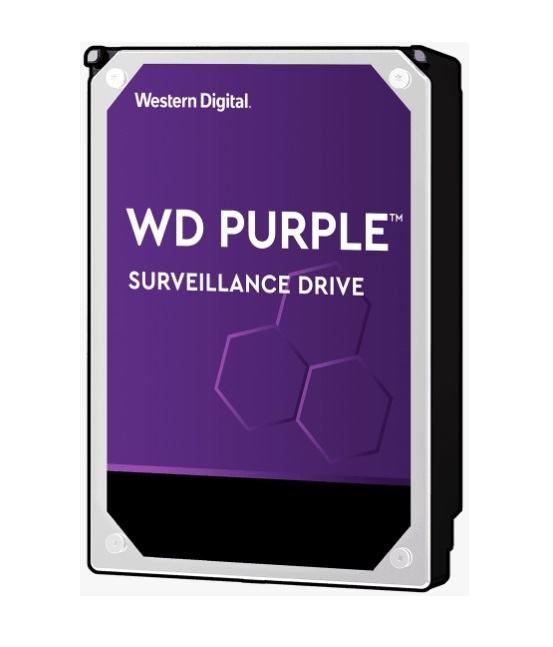 Western Digital WD Purple 6TB 3.5' Surveillance HDD 5400RPM 64MB SATA3 6Gb/s 175MB/s 180TBW 24x7 64 Cameras AV NVR DVR 1.5mil MTBF 3yrs