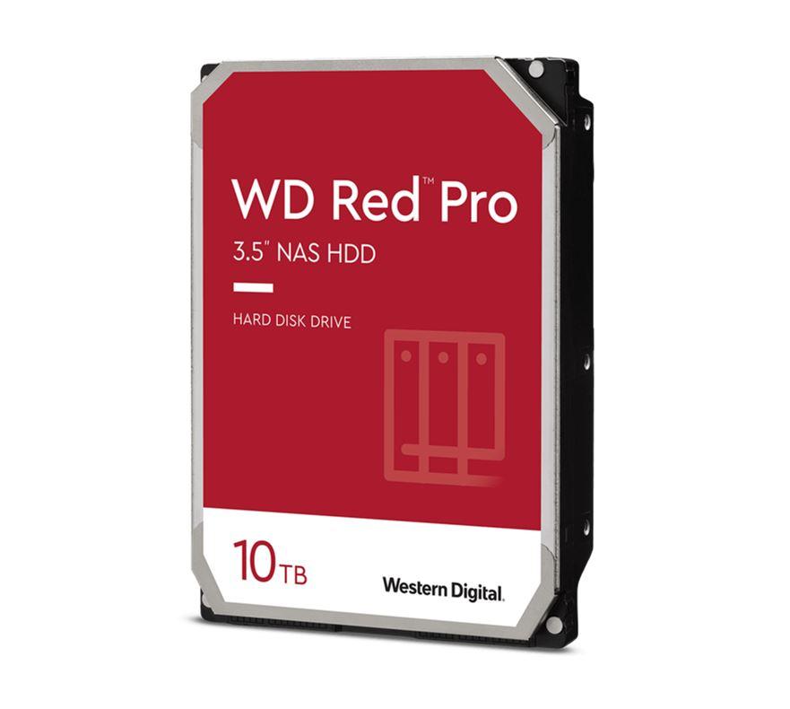 Western Digital WD Red Pro 10TB 3.5' NAS HDD SATA3 7200RPM 256MB Cache 24x7 NASware 3.0 CMR Tech 5yrs wty