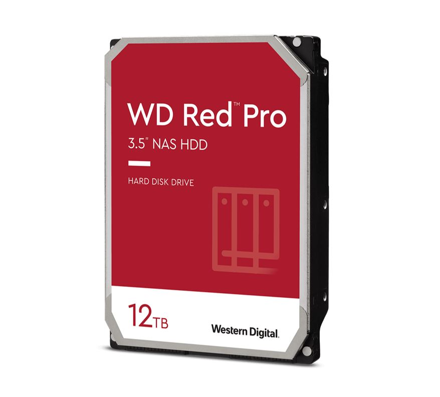 Western Digital WD Red Pro 12TB 3.5' NAS HDD SATA3 7200RPM 256MB Cache 24x7 NASware 3.0 CMR Tech 5yrs wty