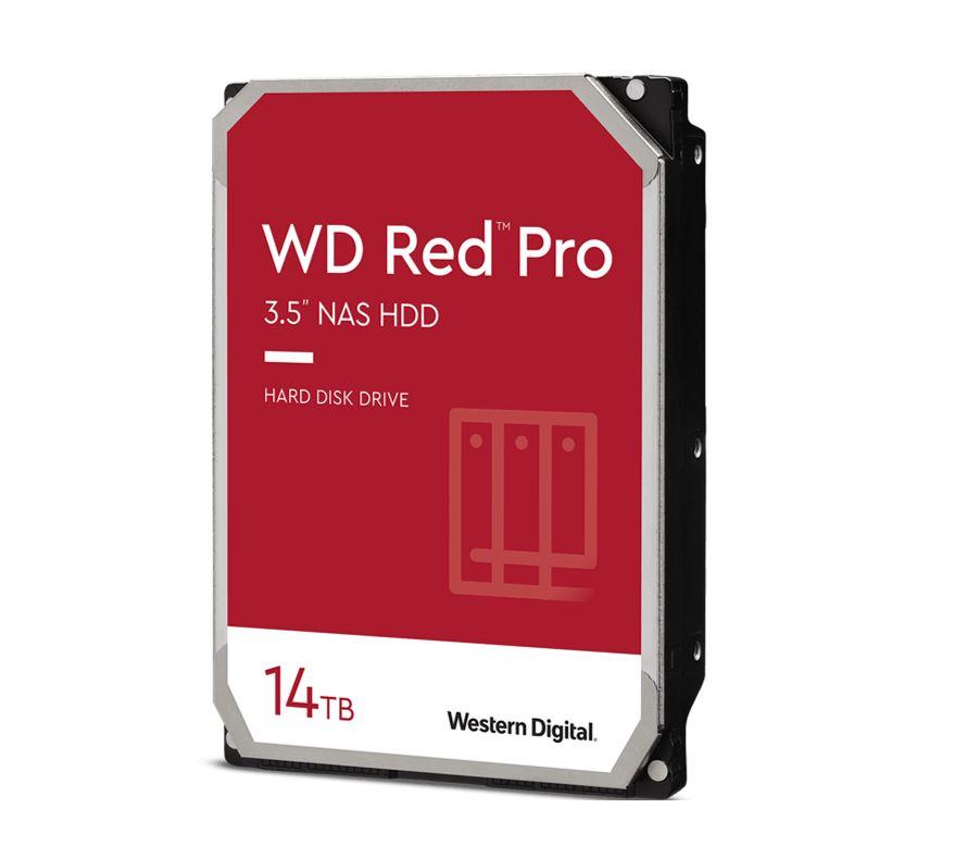 Western Digital WD Red Pro 14TB 3.5' NAS HDD SATA3 7200RPM 512MB Cache 24x7 NASware 3.0 CMR Tech 5yrs wty