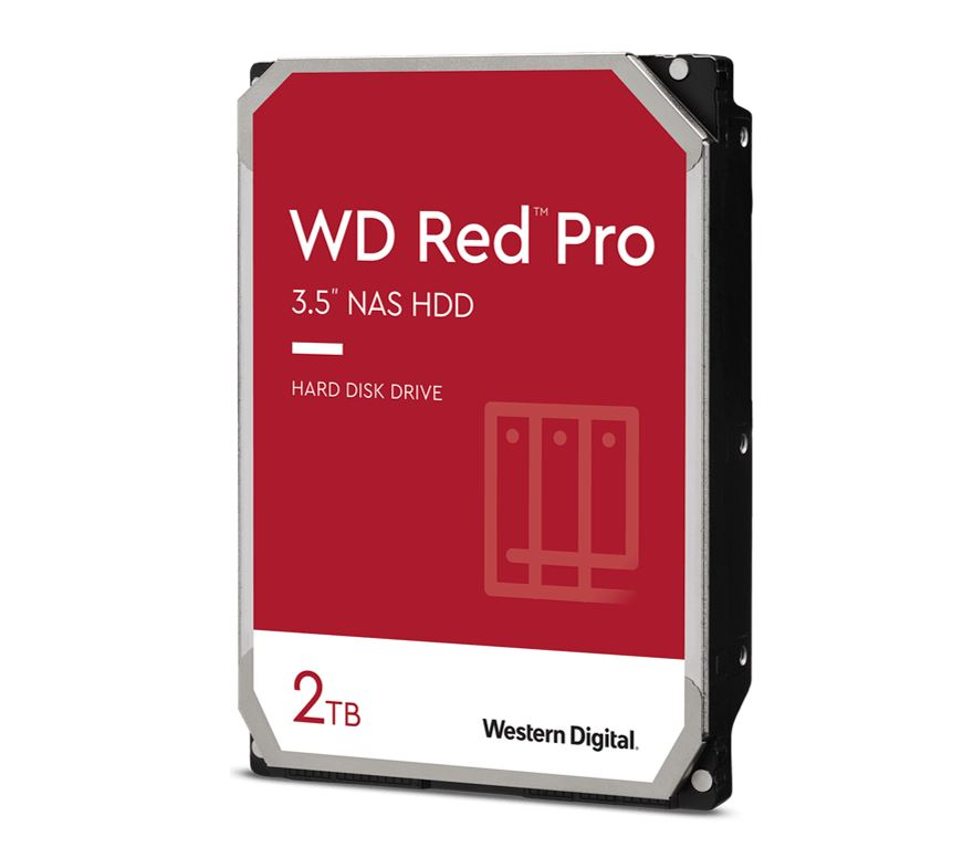 Western Digital WD Red Pro 2TB 3.5' NAS HDD SATA3 7200RPM 64MB Cache 24x7 NASware 3.0 CMR Tech 5yrs wty