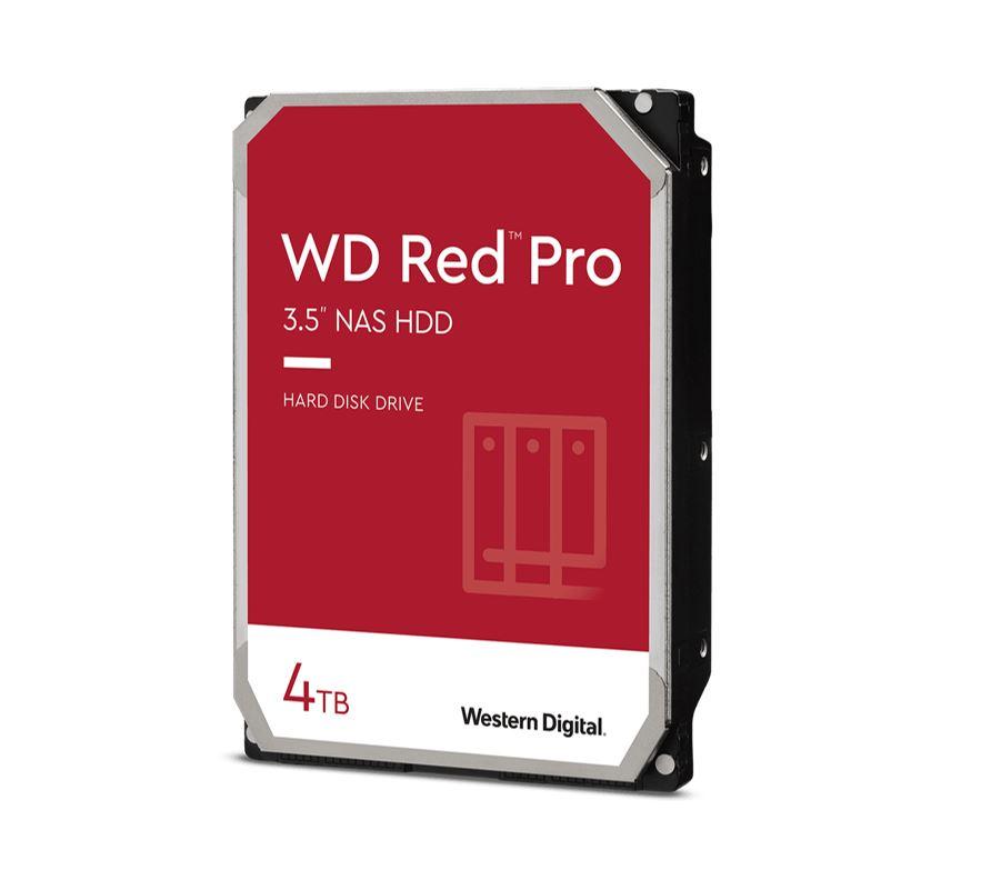 Western Digital WD Red Pro 4TB 3.5' NAS HDD SATA3 7200RPM 256MB Cache 24x7 NASware 3.0 CMR Tech 5yrs wty