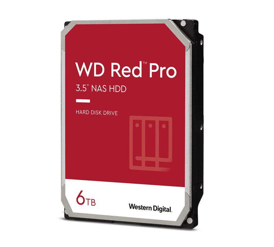 Western Digital WD Red Pro 6TB 3.5' NAS HDD SATA3 7200RPM 256MB Cache 24x7 NASware 3.0 CMR Tech 5yrs wty