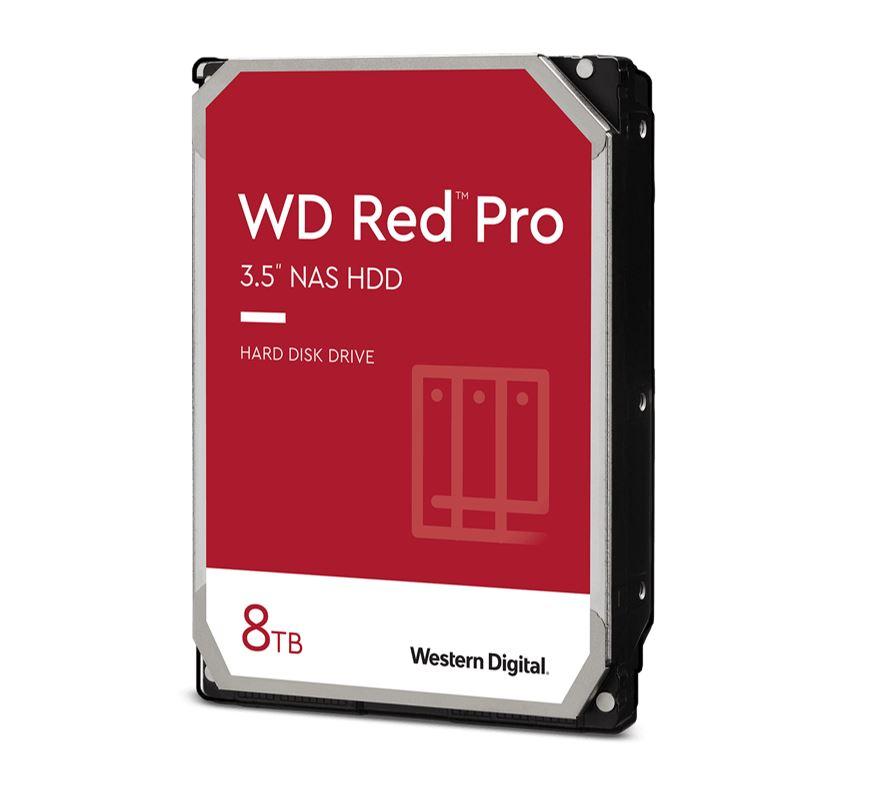 Western Digital WD Red Pro 8TB 3.5' NAS HDD SATA3 7200RPM 256MB Cache 24x7 NASware 3.0 CMR Tech 5yrs wty