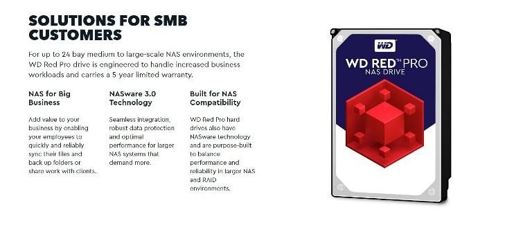 WD Red 8TB PRO NAS 3.5' 7200RPM SATA3 6Gb/s 256MB Cache (WD8003FFBX)