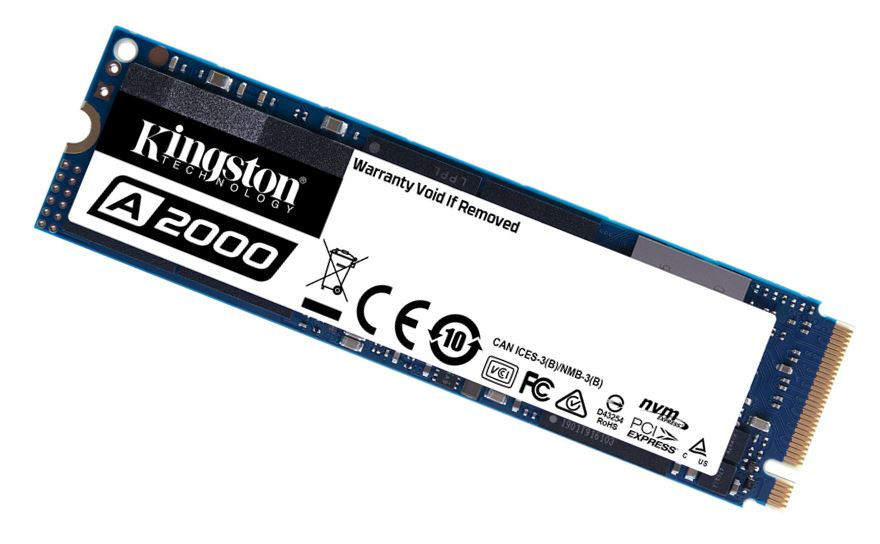 Kingston A2000 500GB M.2 NVMe PCIe SSD - 3D NAND 2000/1100MB/s 150/180K IOPS 150TBW XTS-AES 256-bit Encryption 2M hrs MTBF 5yr wty