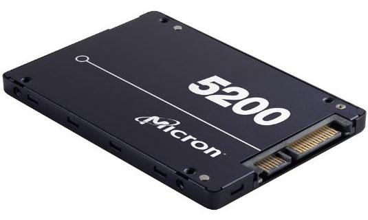 Micron 5200 ECO 3.84TB 2.5' SATA3 6Gbps 7mm Server Data Centre SSD 3D TLC NAND 540R/520W MB/s 95K/17K IOPS 1DWPD 3 Mil hrs 5yrs Crucial