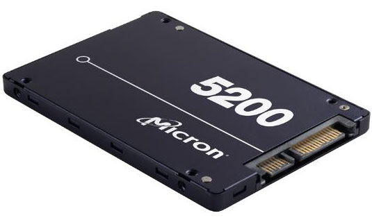 Micron 5200 ECO 960GB 2.5' SATA3 6Gbps 1DWPD SSD 3D TLC NAND 540R/520W MB/s 95K/28K IOPS 7mm Server Data Centre 3 Mil hrs 5yrs Crucial