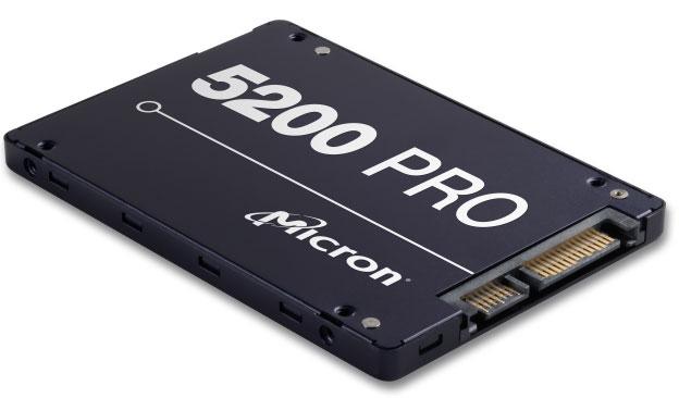 Micron 5200 PRO 1.92TB 2.5' SATA3 6Gbps 2DWPD SSD 3D TLC NAND 540R/520W MB/s 95K/32K IOPS 7mm non SED Server Data Centre 3 Mil hrs 5yrs