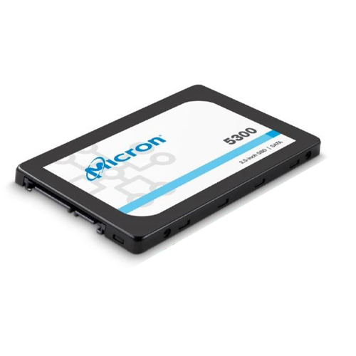 Micron 5300 MAX 1.92TB 2.5' SATA3 Enterprise SSD 96L 3D TLC NAND 540R/520W MB/s 95K/70K IOPS 17.5K TBW non-SED 7mm Server Data Centre 3 Mil hrs 5yrs