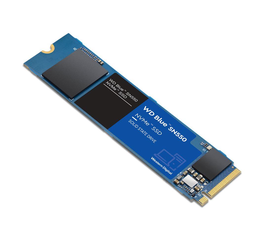 Western Digital WD Blue SN550 250GB NVMe SSD 2400MB/s 950MB/s R/W 150TBW 170K/135K IOPS M.2 2280 PCIe Gen 3 1.7M hrs MTTF 5yrs wty