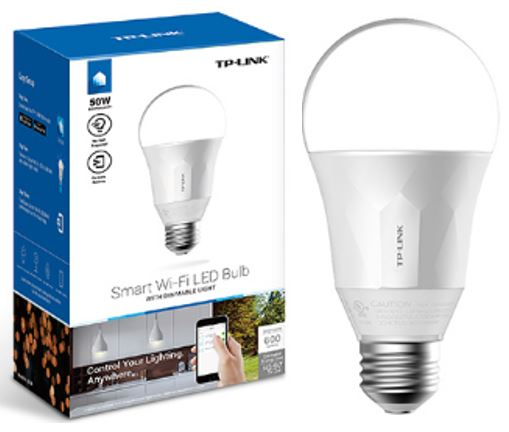 TP-Link LB100 Smart Wi-Fi LED Bulb with Dimmable Light 600lm 2700K 8W 240V 270 Degree 2.4GHz IEEE 802.11b/g/n iOS/Android