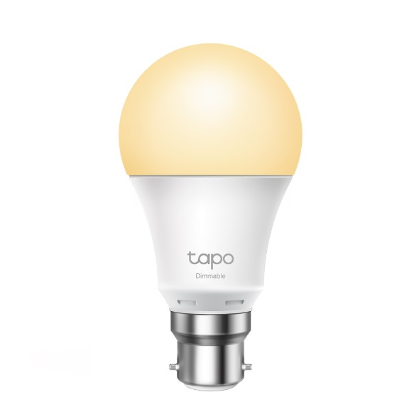 TP-Link Tapo Dimmable Smart Light Bulb L510B Bayonet Fitting Dimmable, No Hub Required, Voice Control, Schedule  Timer 2700K 8.7W 2.4 GHz 802.11b/g/n