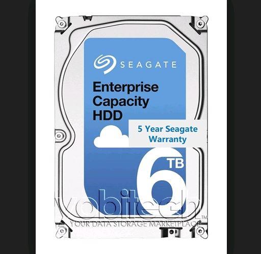 Seagate EXOS 6TB SAS Enterprise Capacity 512E Internal 3.5' HDD, 6TB, 12Gb/s, 7200RPM, 5YR WTY