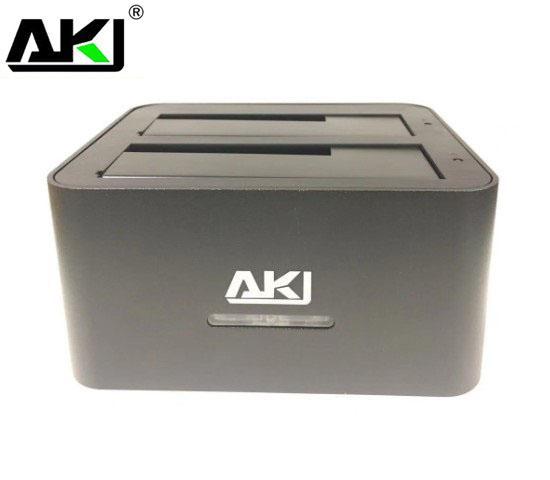 AKY Dual 2.5'/3.5' HDD USB 3.0 SATA Clone Docking Station, Great for HDD Backup, Retail Box