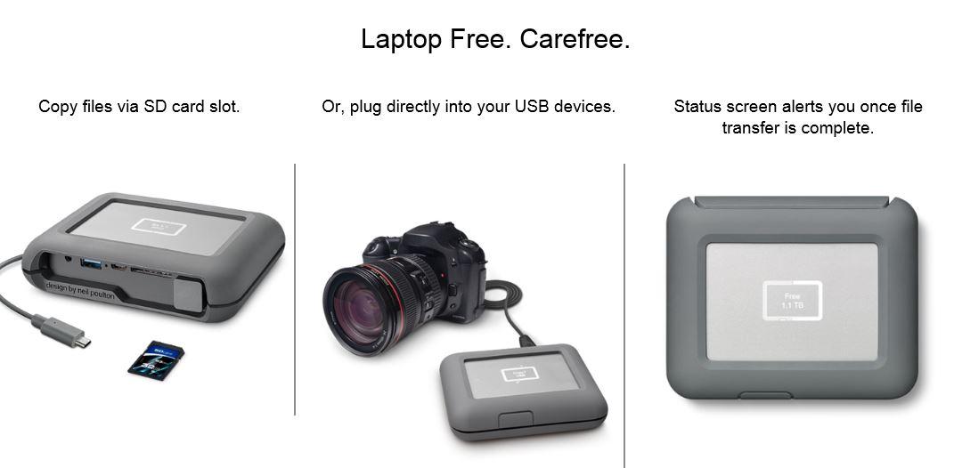 LaCie Seagate  2TB DJI Copilot BOSS USB 3.1 Type-C Computer-Free Portable External HDD