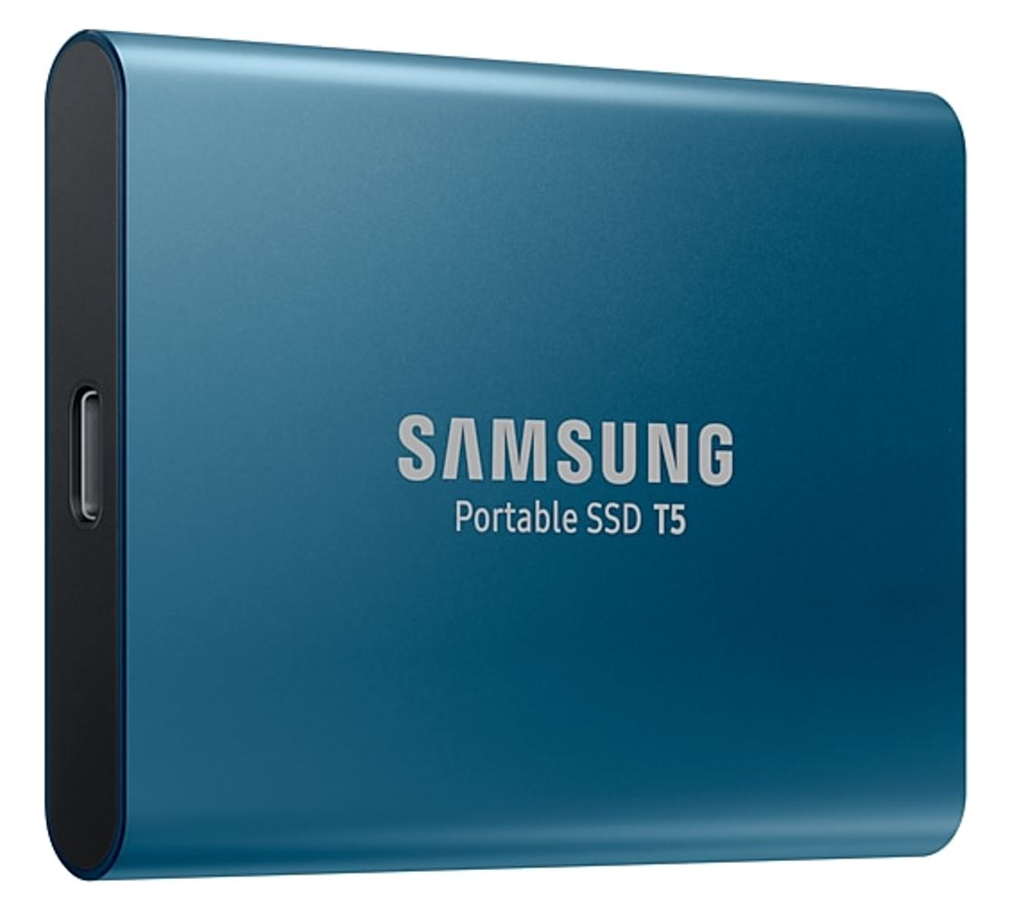 Samsung Portable SSD T5, 500GB, USB3.1 (Gen2) Type-C, Up to 10Gbps, Shock Resistant, 3 Years Warranty