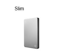 Seagate 2TB Slim 2.5' Ext HDD Silver Backup Plus, USB3, 3 Years Warranty