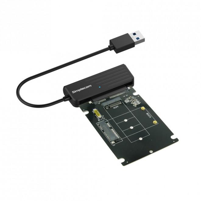 Simplecom SA225 USB3.0 to mSATA + M.2 (NGFF B Key) 2 In 1 Combo Adapter