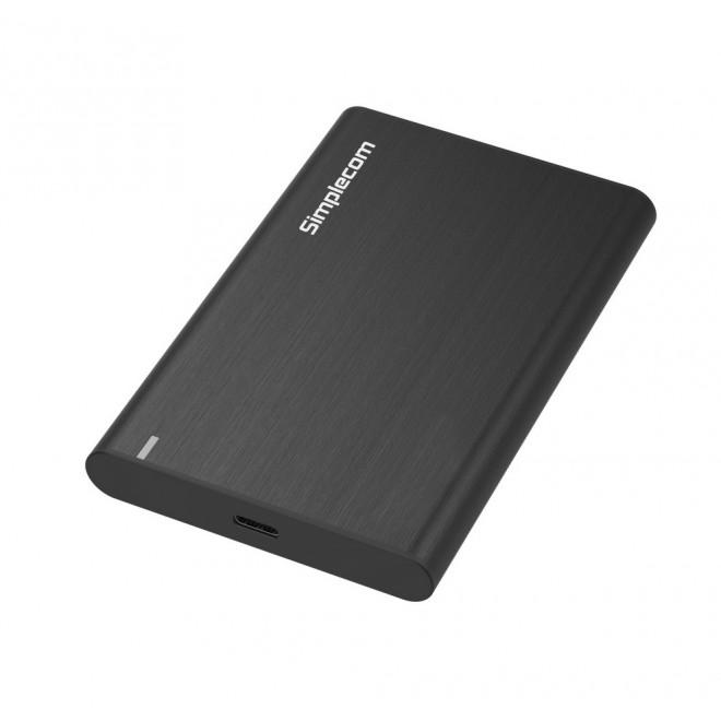 Simplecom SE221 Aluminium 2.5'' SATA HDD/SSD to USB 3.1 Enclosure Black