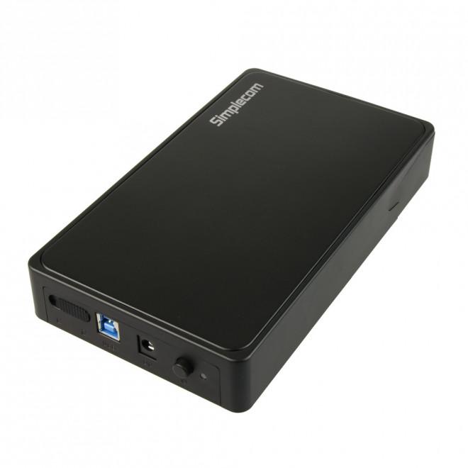 Simplecom SE325 Tool Free 3.5' SATA HDD to USB 3.0 Hard Drive Enclosure - Black Enclosure