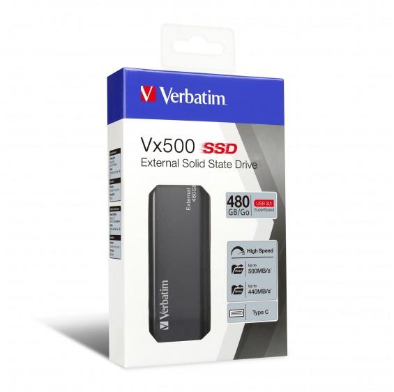 Verbatim Vx500 EXTERNAL SSD Drive 480GB USB3.1