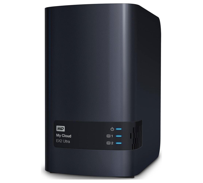 Western Digital WD My Cloud EX2 Ultra Diskless 2 Bay 16TB NAS 1.3GHz Dual-Core 1GB DDR3 RAID 2xUSB3.0 GbE LAN Sync Auto Backup 256 AES Encrypt Windows
