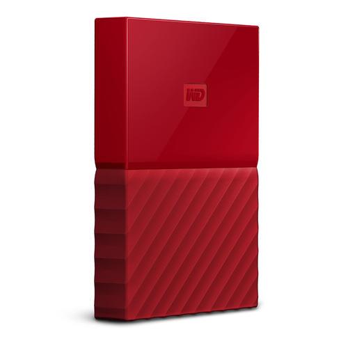 WD External 2TB USB3 2.5' Hard Drive (HDD) - My Passport (Red)