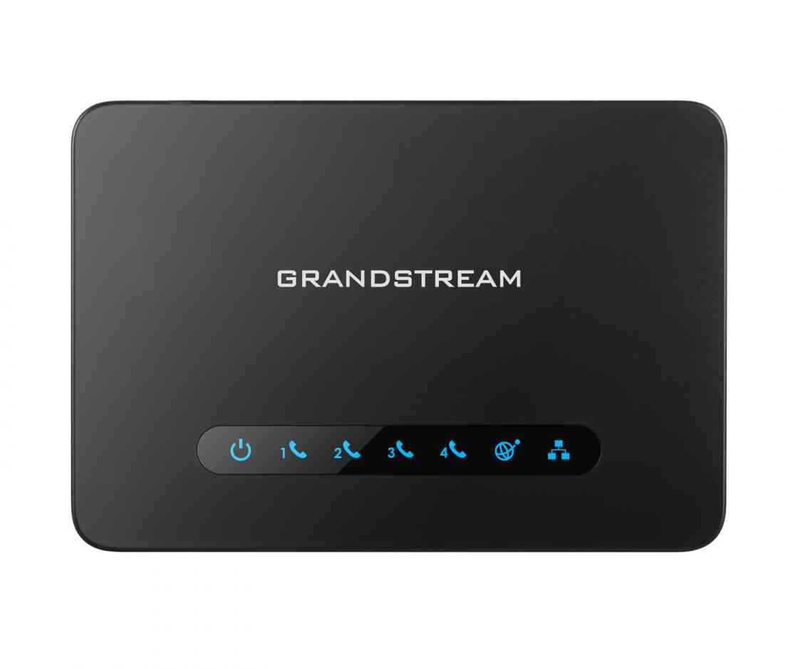 Grandstream HT814 FXS ATA, 4 Port Voip Gateway, Dual GbE Network