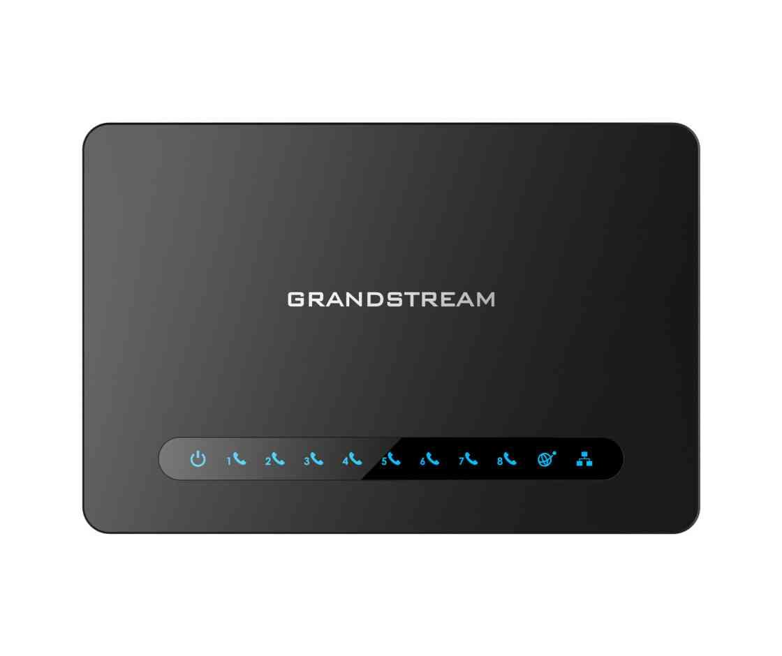 Grandstream HT818 FXS ATA, 8 Port Voip Gateway, Dual GbE Network