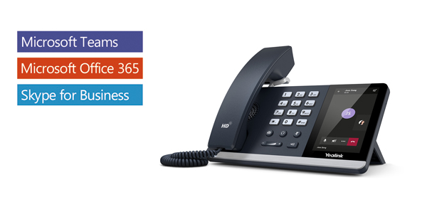 Yealink T55A -Skype For Business Edition, IP Phone, 4.3' Screen, HD Voice, USB, Dual Gigabit,  (Power Adapter  Wall Mount Bracket Optional)