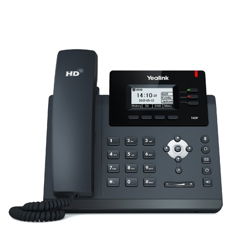 Yealink T40G 3 Line IP phone, 2.3'132x64 pixel graphical LCD with backlight, 2x Gigabit Ports, 4 Program keys/BLF/XML/HDV. (Power Adapter optional)