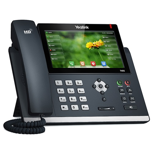 Yealink T48S 16 Line IP phone, 7' 800x480 pixel colour touch screen, Optima HD voice, Dual Gigabit Ports, 1 USB port for BT40/WF40/Recording, Opus Sup