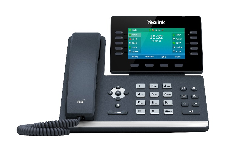 Yealink T54W,  16 Line IP HD Phone, 4.3' 480 x 272 colour screen, HD voice, Dual Gig Ports, Built in Bluetooth and WiFi, USB 2.0 Port