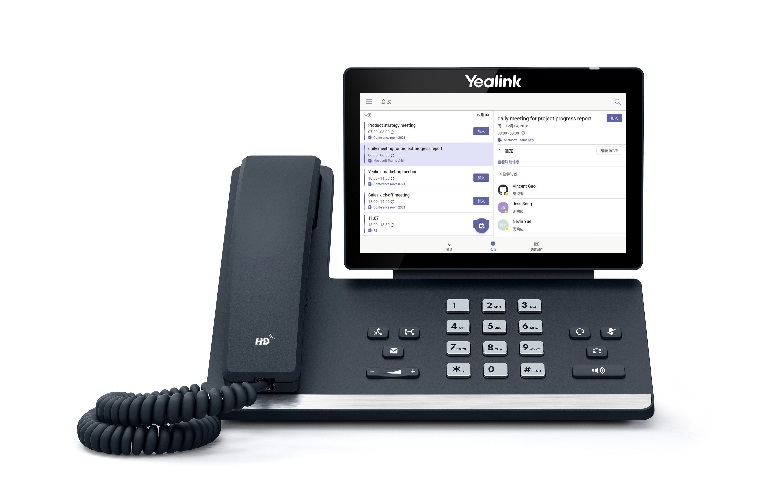 Yealink T56A 16 Line IP HD Android Phone, 7' 1024 x 600 colour touch screen, HD voice, Dual Gig Ports, Built in Bluetooth and WiFi, - MS Teams Edition