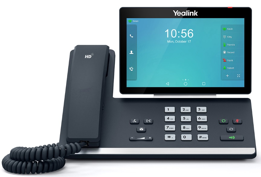 Yealink T58A 16 Line IP HD Android Phone, 7' 1024 x 600 colour touch screen, HD voice, Dual Gig Ports, Built in Bluetooth and WiFi, USB 2.0 Port,