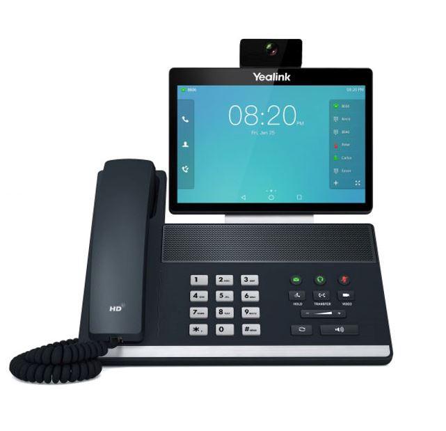 Yealink SIP-VP59 16 Line IP Full-HD Video Phone, 8' 1280 x 800 colour touch screen, HD voice, Dual Gig Ports, Bluetooth, WiFi, USB, HDMI, 29 DSS keys,