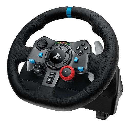 Logitech G29 Driving Force Racing Wheel PS3 & PS4 Dual motor force feedback Helical gearing with anti-backlash 900° steering
