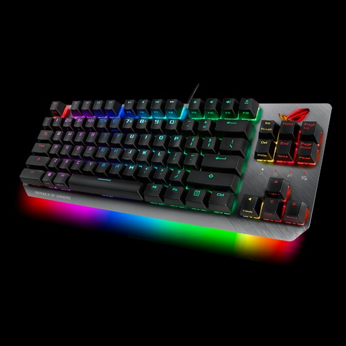 ASUS X802 STRIX SCOPE TKL/RD Wired Mechanical RGB Gaming Keyboard For FPS Games, Cherry MX Switches, Aluminum Frame, Aura Sync Lighting