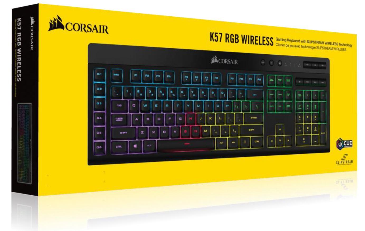Corsair K57 RGB Wireless Keyboard with SLIPSTREAM Technology