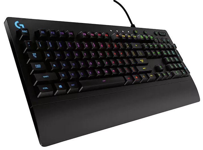 Logitech G213 Prodigy RGB Gaming Keyboard, 16.8 Million Lighting Colors Mech-Dome Backlit Keys Dedicated Media Controls Spill-Resistant Durable (LS)